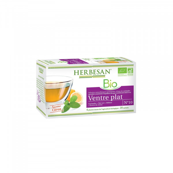 Herbesan Infusion ventre plat Bio 20 sachets infusettes - Herbesan