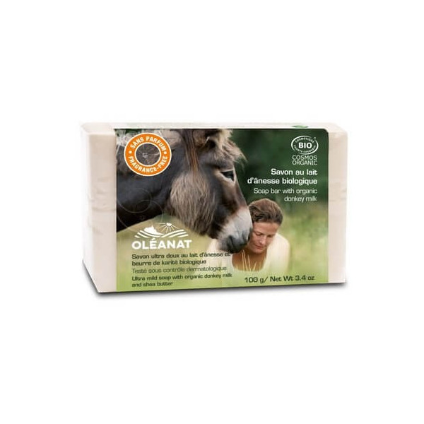 Savon au lait d'ânesse sans parfum BIO - 100g