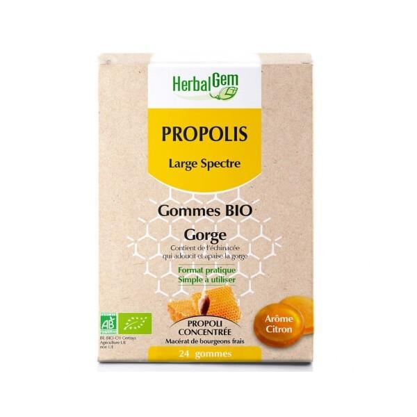 Propolis large spectre BIO 24 gommes - Herbalgem