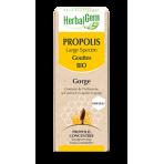 Propolis large spectre Gorge en gouttes 15 ml BIO - Herbalgem