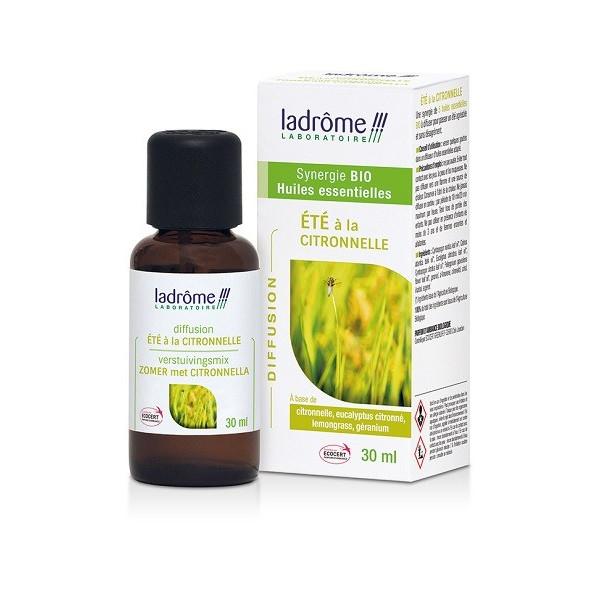 Eté à la citronnelle - Synergie pour diffusion 100 % Huiles essentielles Bio 30 ml - Ladrôme