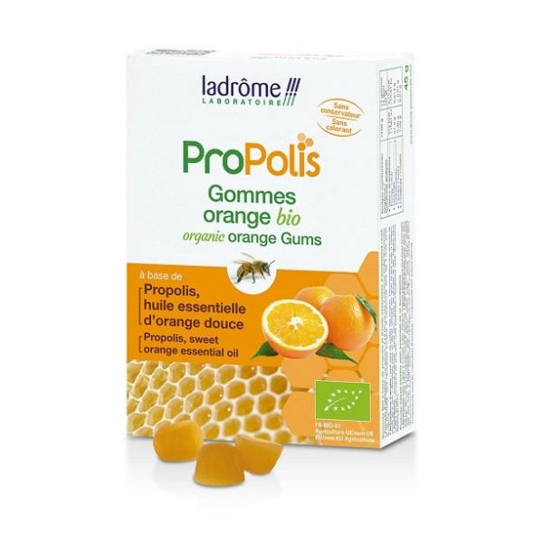 Gommes Propolis et Orange - 45 g - Ladrôme