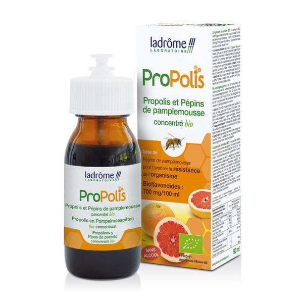 Bio-concentré de Propolis et de Pépins de pamplemousse 50 ml - Ladrôme
