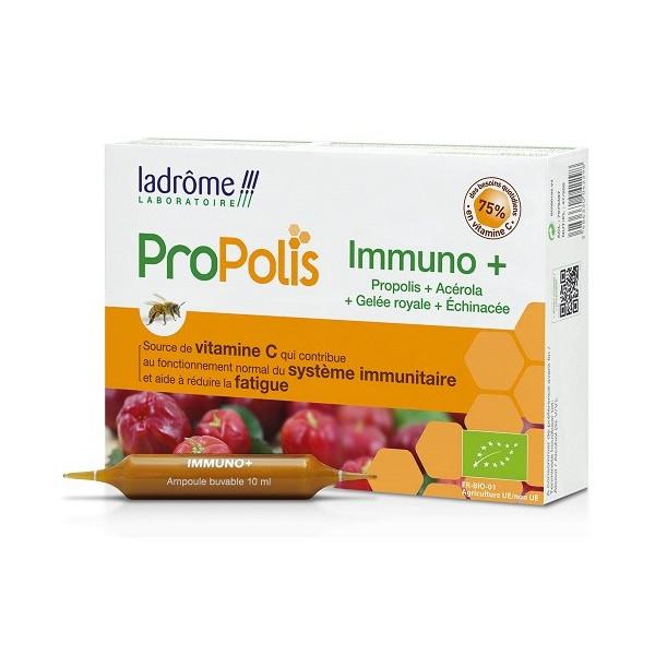 Immuno+ Ampoules à la propolis Bio 20 ampoules - Ladrôme