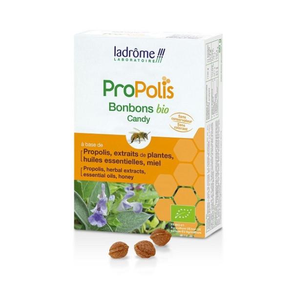 Bonbons aux extraits de plantes et Propolis 50g BIO - Ladrôme