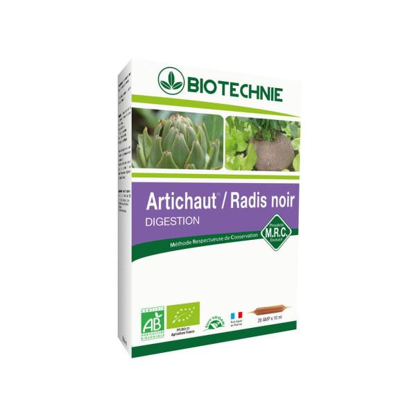 Artichaut Radis noir Bio 20 ampoules - Biotechnie