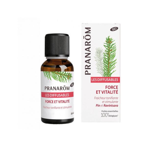 """Synergie d'huiles essentielles """"Force et vitalité"""" 30 ml - Pranarôm"""