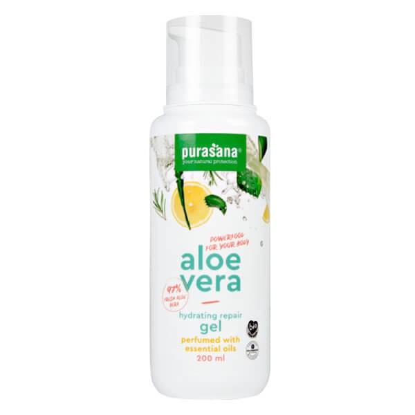 Aloe vera Gel pur parfumé à l'huile essentielle 200 ml BIO - Purasana