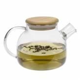 Théière en verre et couvercle en bambou 1L - Aromandise