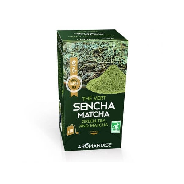 Thé Vert Sencha et Matcha 18 sachets BIO - Aromandise