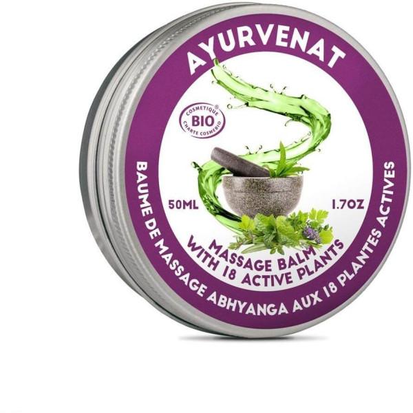 Baume de massage Ayurvédique aux 18 herbes BIO 50 ml - Oléanat