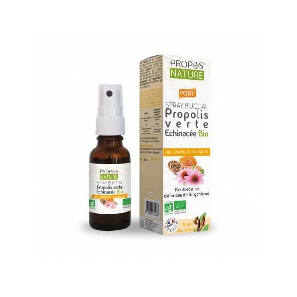 Spray buccal à la Propolis verte et Echinacée Bio 20 ml - Propos'Nature
