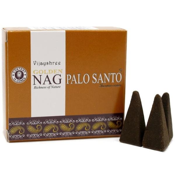 Encens en cône - Golden Nag Palo Santo 20 gr - Vijayshree