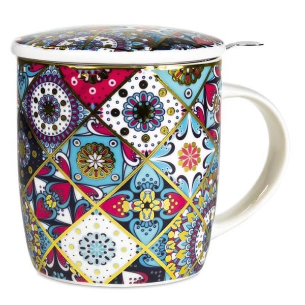 Tisanière Orientale en porcelaine avec filtre