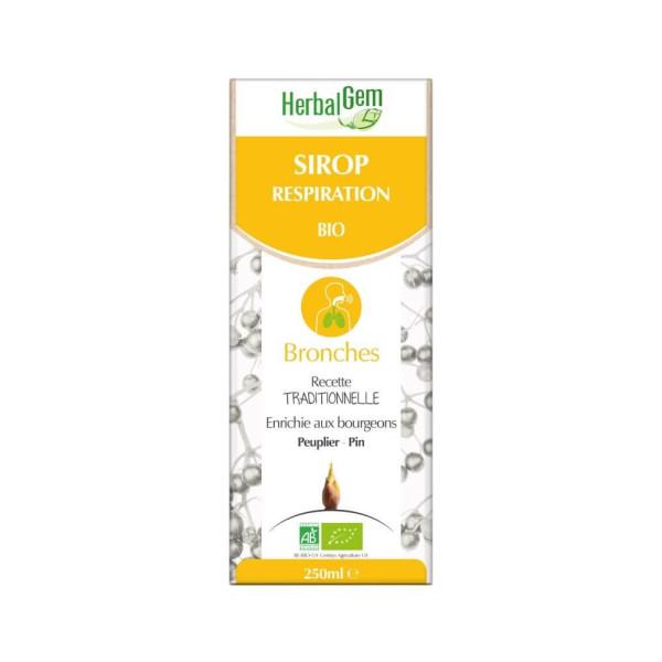 Sirop pour la respiration Bio 250 ml - Herbalgem