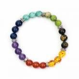 Bracelet 7 Chakras - Lithothérapie