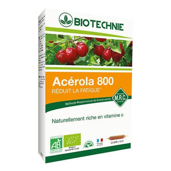Acérola Bio 20 ampoules - Biotechnie