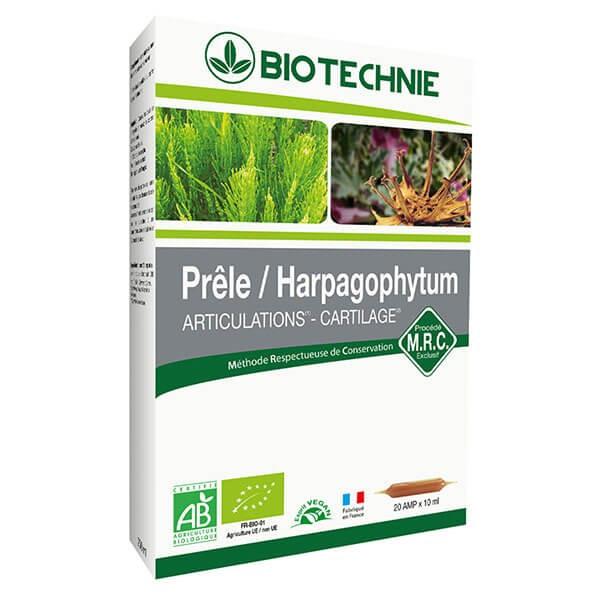 Prêle - Harpagophytum Extrait Bio 20 ampoules - Biotechnie