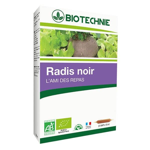 Radis noir Bio 20 ampoules - Biotechnie