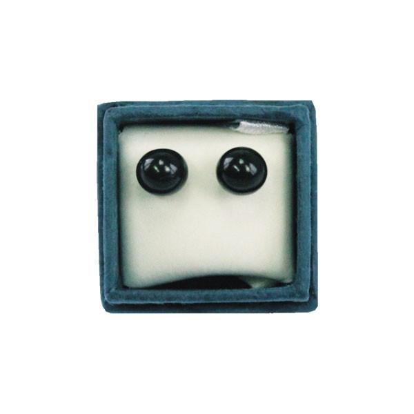 Boucles d'oreilles perles d'Onyx Noir - 6 mm
