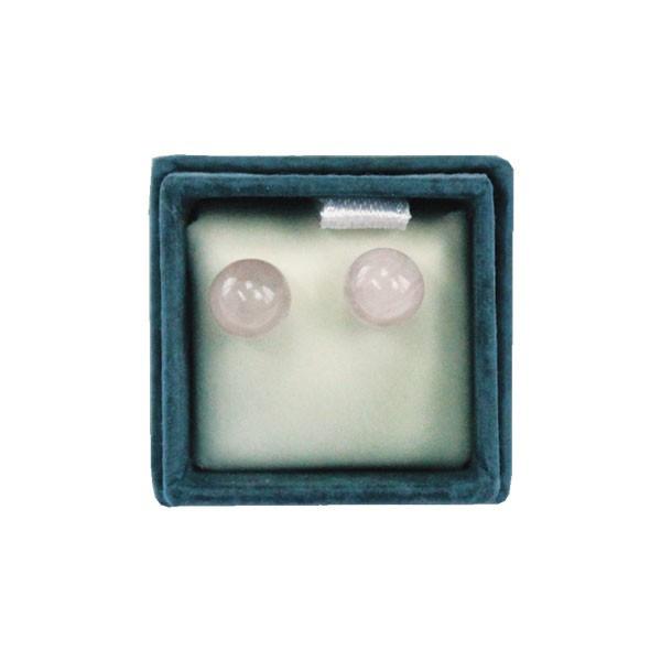 Boucles d'oreilles perles de Quartz Rose - 6 mm - Lithothérapie