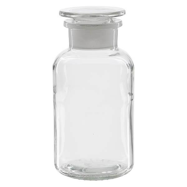 Flacon à pharmacie en verre transparent - 500 ml