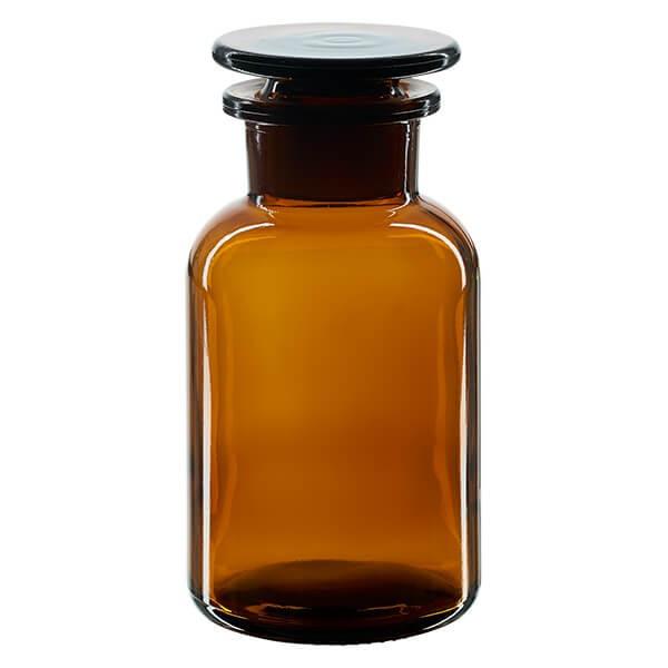 Flacon à pharmacie en verre ambré - 250 ml