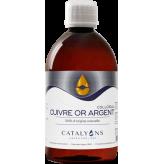 Cuivre - Or - Argent oligo-élément ionisé 500 ml - Catalyons