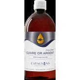 Cuivre - Or - Argent oligo-élément ionisé 1L - Catalyons
