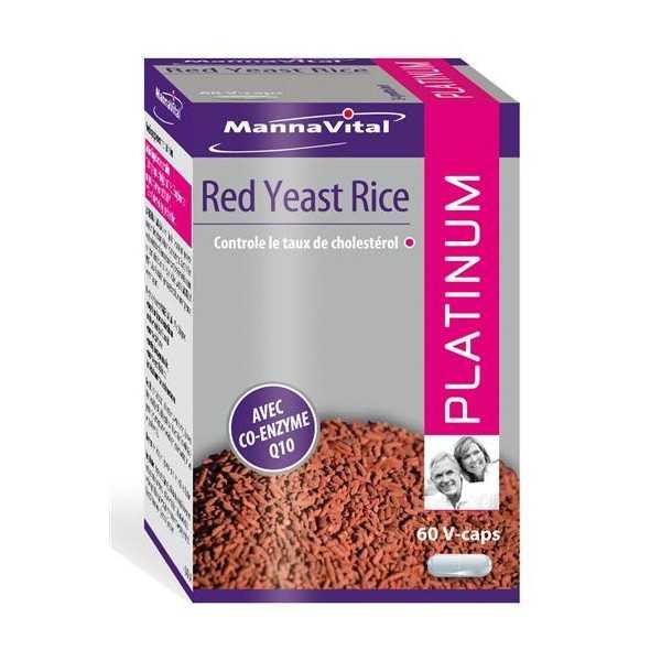 Red Yeast Rice Levure de riz rouge + Co-Q10 Platinum - Mannavital