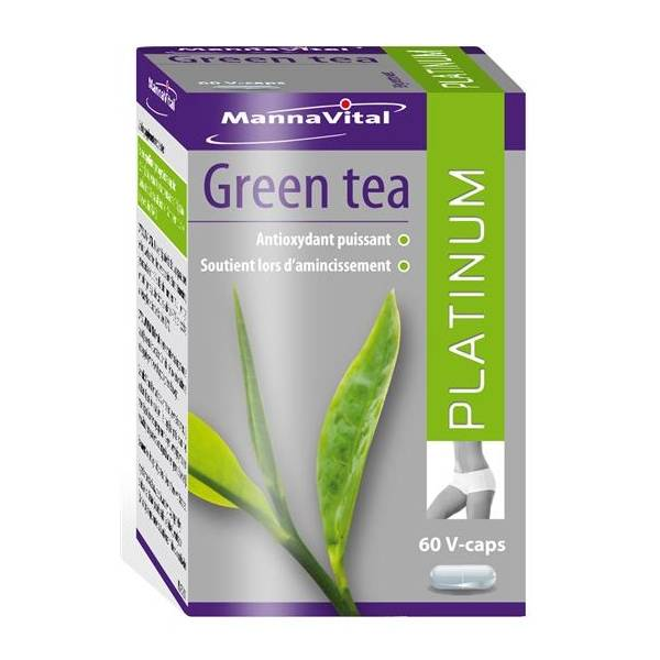 Thé vert Platinum (extrait standardisé 60%) 60 capsules Mannavital