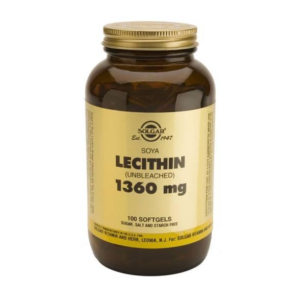Lecithin 1360 mg 100gélules - Solgar