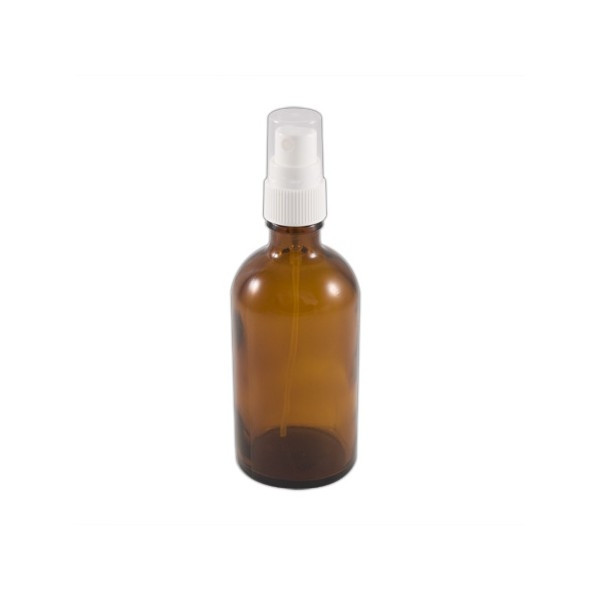 Brown glass 100 ml (empty) spray bottle