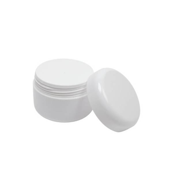 Pommadier couvercle à viser blanc (vide) 100 ml