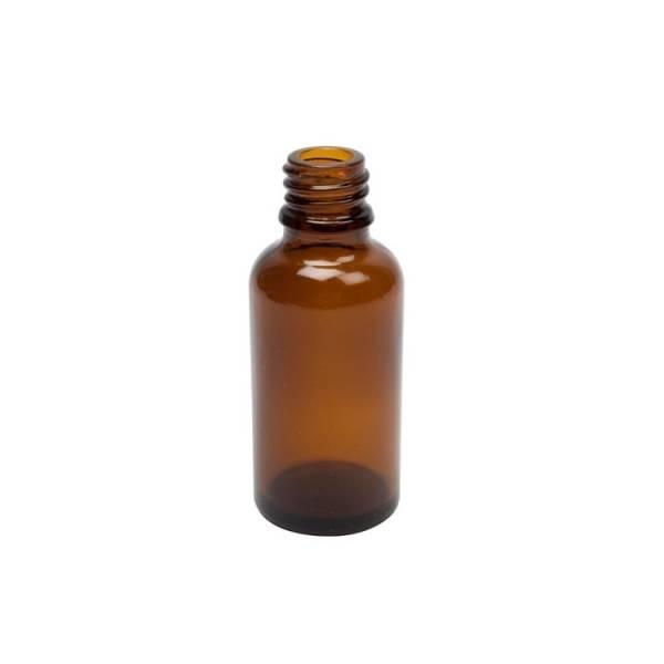 Flacon brun en verre 30 ml avec compte-gouttes (vide)