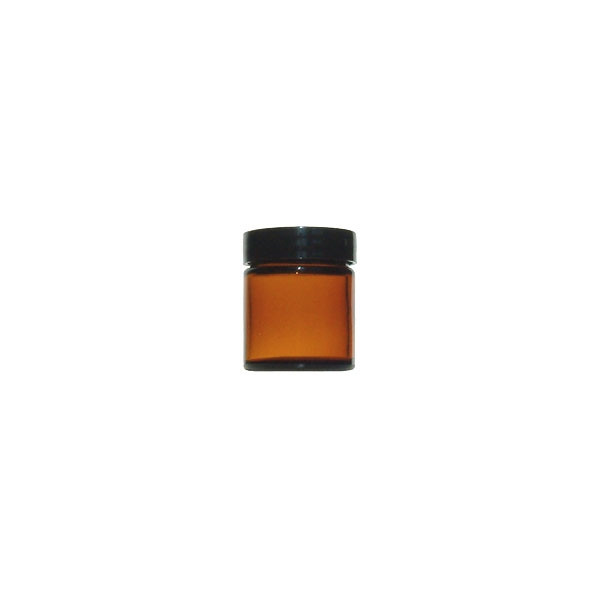 Pot (pommadier) en verre brun 30 ml