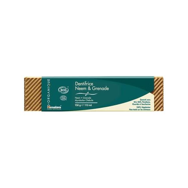 Dentifrice Neem & Grenade Bio 150 gr - Himalaya Herbal