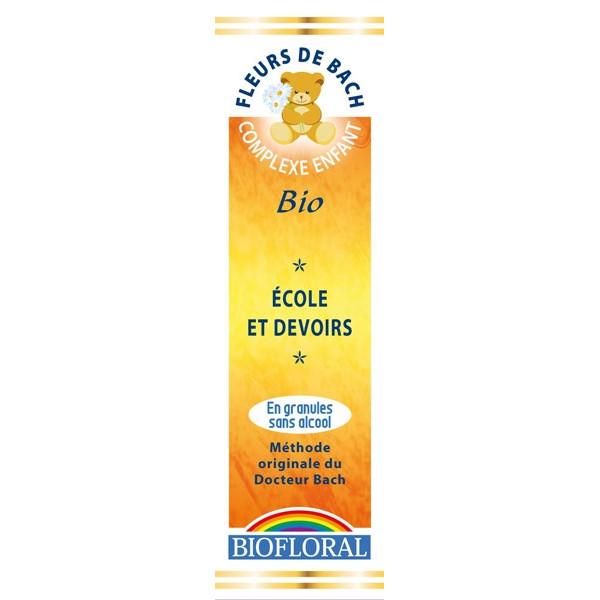 """Complexe Enfants N°34 """"Ecole et devoirs"""" en granulés Bio sans alcool 10g - Biofloral"""