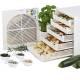 Déshydrateur séchoir (2 à 3kg) à fruits et plantes médicinales ou arômatiques - 5 plateaux - Finition blanche