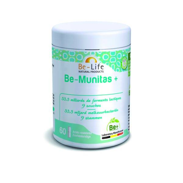be-Munitas + (ferments lactiques) 30 gélules be-life