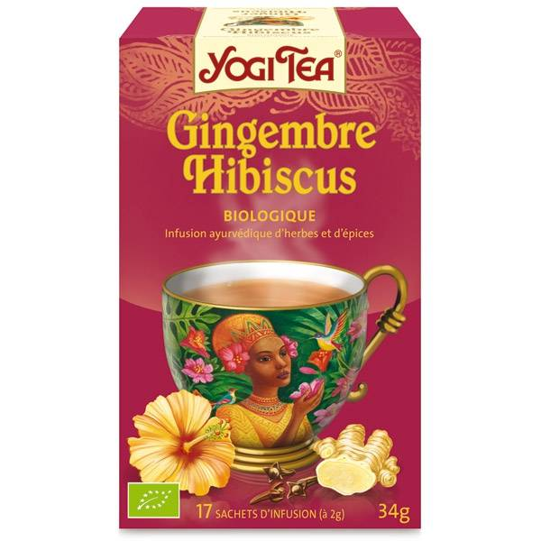 "Yogi tea ""Gingembre Hibiscus"" Bio 17 sachets - Thé Ayurvedic"