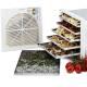 Déshydrateur séchoir (5 à 7kg) à fruits et plantes médicinales ou arômatiques - 12 plateaux - Finition Deluxe Inox