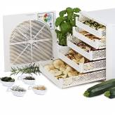 Dehydrator dryer (4-6kg) fruit and medicinal or aromatic plants - 10 trays - white finish