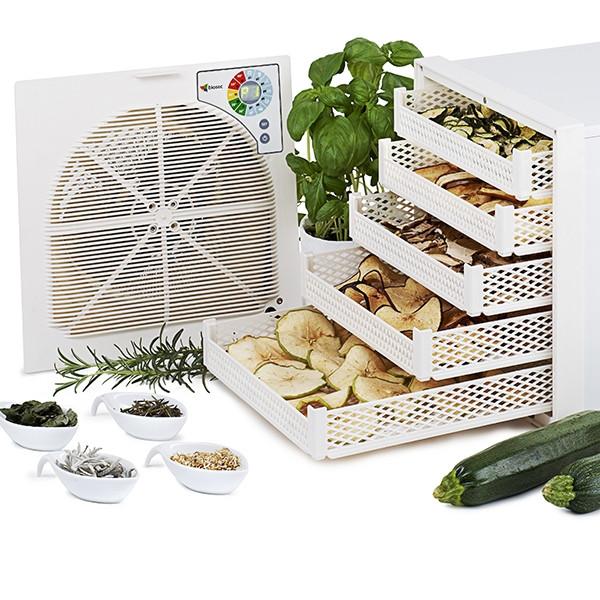Déshydrateur séchoir (4 à 6kg) à fruits et plantes médicinales ou arômatiques - 10 plateaux - Finition blanche
