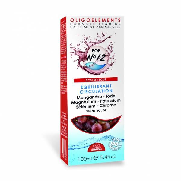 Vigne rouge oligoéléments (POE N°12) 100 ml Bioligophyt