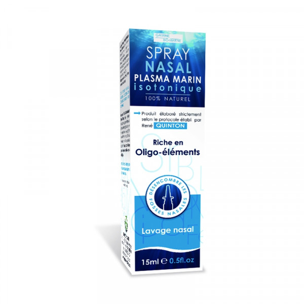 Spray nasal Plasma marin Isotonique 15 ml - Eau de Quinton - Propos'Nature