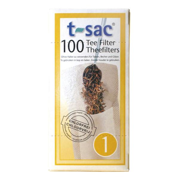 Filtres à thé N° 1 en papier biodégradable 100 pièces - t-sac
