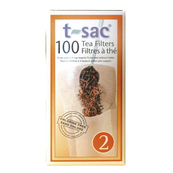 Filtres à thé N° 2 en papier biodégradable 100 pièces - t-sac