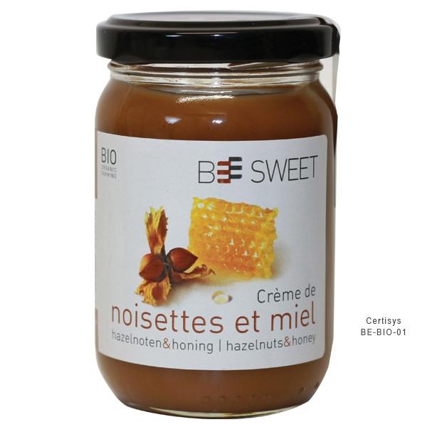 Crème de noisettes et miel Bio 225 gr - Pâte à tartiner