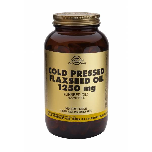 Huile de lin Cold pressed Flaxseed oil 1250mg 100 softgels - Solgar